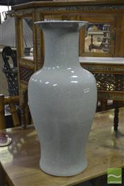 Sale 8406 - Lot 1002 - Pair of Large Crackle Glaze Urns