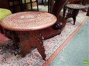 Sale 8480 - Lot 1087 - Two Graduating Carved Indian Side Tables