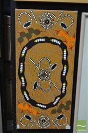 Sale 8497 - Lot 2096 - Artist Unknown - Gathering 66.5 x 31cm