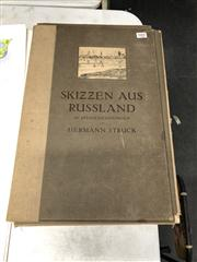 Sale 8819 - Lot 2422 - Hermann Struck (1876 - 1944) - Skizzen aus Russland 1916 (Sketches from Russia) 48 x 32cm (mount size)