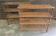 Sale 8959 - Lot 1013 - Pair of Timber Shoe Racks (H:67 x W:64 x D:26cm)