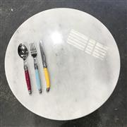 Sale 9080K - Lot 16 - Circular Marble Cheese Board or Trivet - 40cm