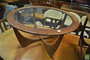 Sale 8338 - Lot 1078 - Circular Atmos Coffee Table with Glass Top