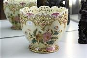 Sale 8348 - Lot 53 - Ceramic Reticulated Jardiniere