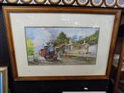 Sale 8441T - Lot 2090 - John Koenders - Life is but a moment however art is eternal, framed watercolour