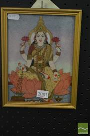 Sale 8522 - Lot 2081 - Picture Made from Gemstone (See Back)