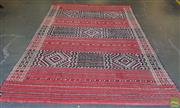 Sale 8585 - Lot 1732 - Large Red Tone Kilim with Symmetrical Patterns (370 x 250cm)