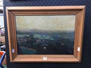 Sale 8754 - Lot 2002 - Richard Bourdouxhe Le Hameau Ham-Esneux, 1938 oil on canvas (AF) signed, dated and inscribed verso