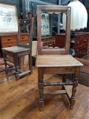 Sale 8868 - Lot 1101 - Two Antique Oak Peg Jointed Chairs, in the 17th/ 18th century style
