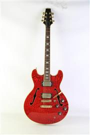Sale 8940 - Lot 45 - Aria Pro II Electric Guitar With Crackle Finish