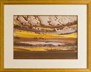 Sale 8960J - Lot 87 - Sidney Nolan - Central Australia oil on paper