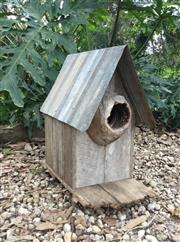 Sale 9015G - Lot 98 - A Rustic Country Bird House ,Made from timber and metal, General Wear ,Marks , Size 45cm H
