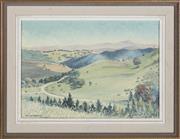 Sale 9055A - Lot 5098 - David Hogan (1924-1997) - South Coast Vista 24 x 34.5 cm (frame: 34.5 x 45 x 3 cm)