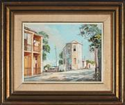 Sale 9082 - Lot 2099 - Otto Kuster (1941 - ) - The Tall House, Cameron Street, Edgecliff, 1977 21.5 x 29 cm (frame: 39 x 47 x 4 cm)
