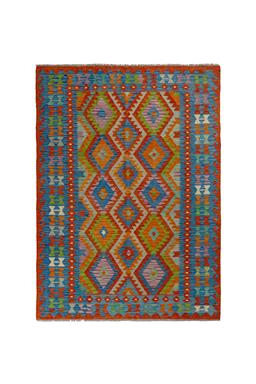 Sale 9185C - Lot 41 - AFGHAN MAYMANA KILIM, 170X237CM, HANDSPUN WOOL