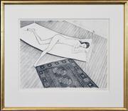 Sale 8286 - Lot 547 - John Brack (1920 - 1999) - Nude on Bed, 1972 50 x 62cm