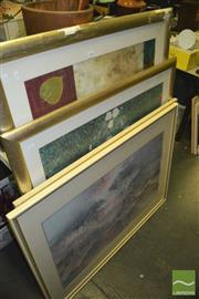 Sale 8425T - Lot 2088 - Group of (4) Large Landscape & Floral Decorative Prints