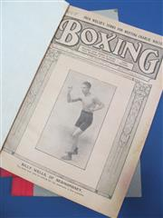 Sale 8419A - Lot 65 - Boxing 1915-1925 - 8 bound volumes of illustrated Boxing (UK), 1915-1925; t/w 5 bound volumes of Boxing (UK) 1936-1939