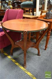 Sale 8480 - Lot 1106 - Oak Revolving Games Table