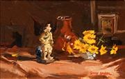 Sale 8631 - Lot 2001 - Gary Baker (1954 - ) - Still Life - Yellow Arrangement 37 x 49cm