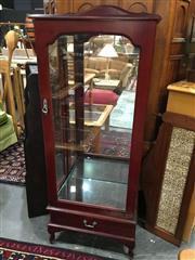 Sale 8851 - Lot 1090 - Timber and Glass Display Case with Mirrored Back