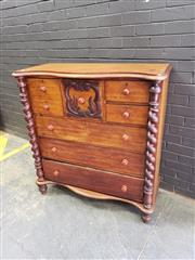 Sale 9034 - Lot 1077 - Victorian mahogany Chest of 8 Drawers (h:121 x w:116cm)