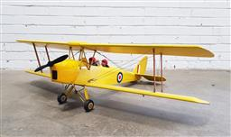 Sale 9117 - Lot 1055 - Large metal scale tiger moth with pilots (h40 x w132 x d108cm)