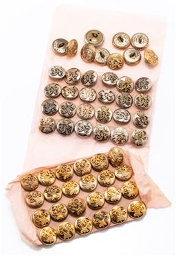 Sale 9190E - Lot 43 - A collection of Australian Volunteer rifles buttons in silver tones and gold tones, all marked Smith & Wright