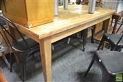 Sale 8289 - Lot 1073 - Oak Parquetry Dining Table (150cm)
