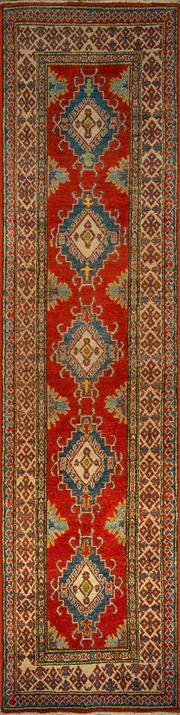 Sale 8431C - Lot 32 - Afghan Kazak 315cm x 80cm