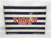 Sale 8600A - Lot 91 - Vintage Xanadu oil rack sign, H 41 x L 57cm.