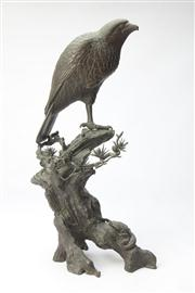 Sale 8662 - Lot 82 - Meji Bronze Figure of A Hawk