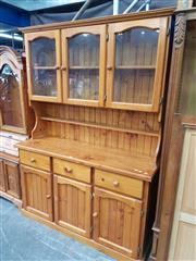 Sale 8676 - Lot 1132 - Pine Buffet & Hutch