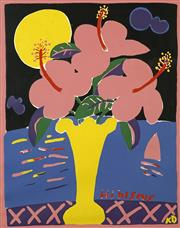 Sale 8696A - Lot 5089 - Ken Done (1940 - ) - Hibiscus 65.5 x 51.5cm