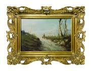Sale 8828A - Lot 68 - Antique French Barbizon schoo,l oil on canvas unsigned. 20 x 31 cm