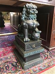 Sale 8817 - Lot 1003 - Ebonised Foo Dog