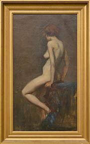 Sale 8960J - Lot 4 - George Lambert - Nude oil on canvas