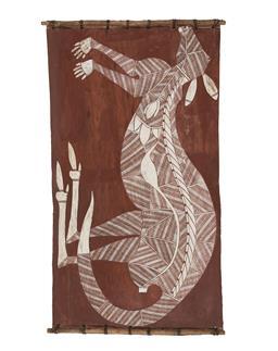 Sale 9195 - Lot 571 - YUWUN YUWUN MARRUWARR (C1928 - 1979) - Karurrken 48 x 90 cm