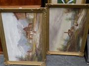 Sale 8422T - Lot 2004 - Artist Unknown, Pair of framed oil paintings