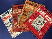 Sale 8419A - Lot 89 - Fights for the Championship - Hennings 2 volume classic, Post Boxing Record Annuals 1934-1937, and a whole lot more!