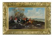 Sale 8586A - Lot 17 - Robert Stone, British, 1820 -1870 - Hunting Scene 42 x 69cm