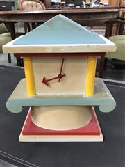 Sale 8809 - Lot 1035 - Timber Memphis Style Quartz Clock