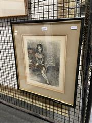 Sale 8936 - Lot 2044 - Raphel Soyer (1899 - 1987) Seated Woman (For Jules) etching ed. 4/15, 41.5 x 49cm (frame), signed