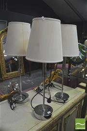Sale 8418 - Lot 1026 - 4 Chrome Lamps