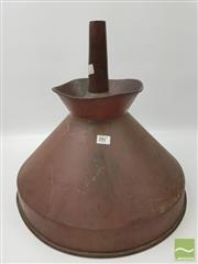 Sale 8439F - Lot 1847 - Large Copper French Funnel (H 46cm x D 43cm)