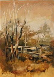 Sale 8613 - Lot 2004 - Helen Goldsmith (1937 - ) - Magpie at Sawtell, Coffs Harbour 49 x 36cm