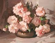 Sale 8606 - Lot 575 - Alan Baker (1914 - 1987) - Camellias 19 x 24.5cm
