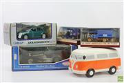 Sale 8626 - Lot 75 - Ceramic Kombi Moneybox Together With Matchbox Cars