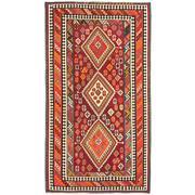 Sale 8810C - Lot 20 - A Persian Vintage Nomadic Qashgai Kelim In Handspun Wool, 180 x 325cm