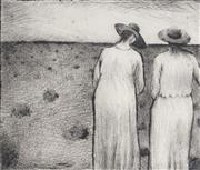 Sale 8903 - Lot 2019 - Kevin Oxley (1941 - ) (2 works) - Winter Afternoon & Sisters 10 x 14.5 cm; 12 x 14 cm (plate size)